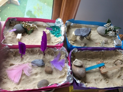 Zen Gardens made by the Holiday Club!